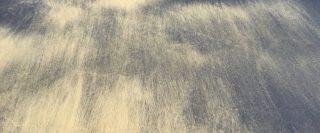 Sable pâle balayé par le vent sur du sable plus foncé sur une plage du Abel Tasman Park en Nouvelle-Zélande.