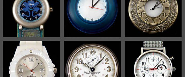 9 montres à cadrans analogiques variés
